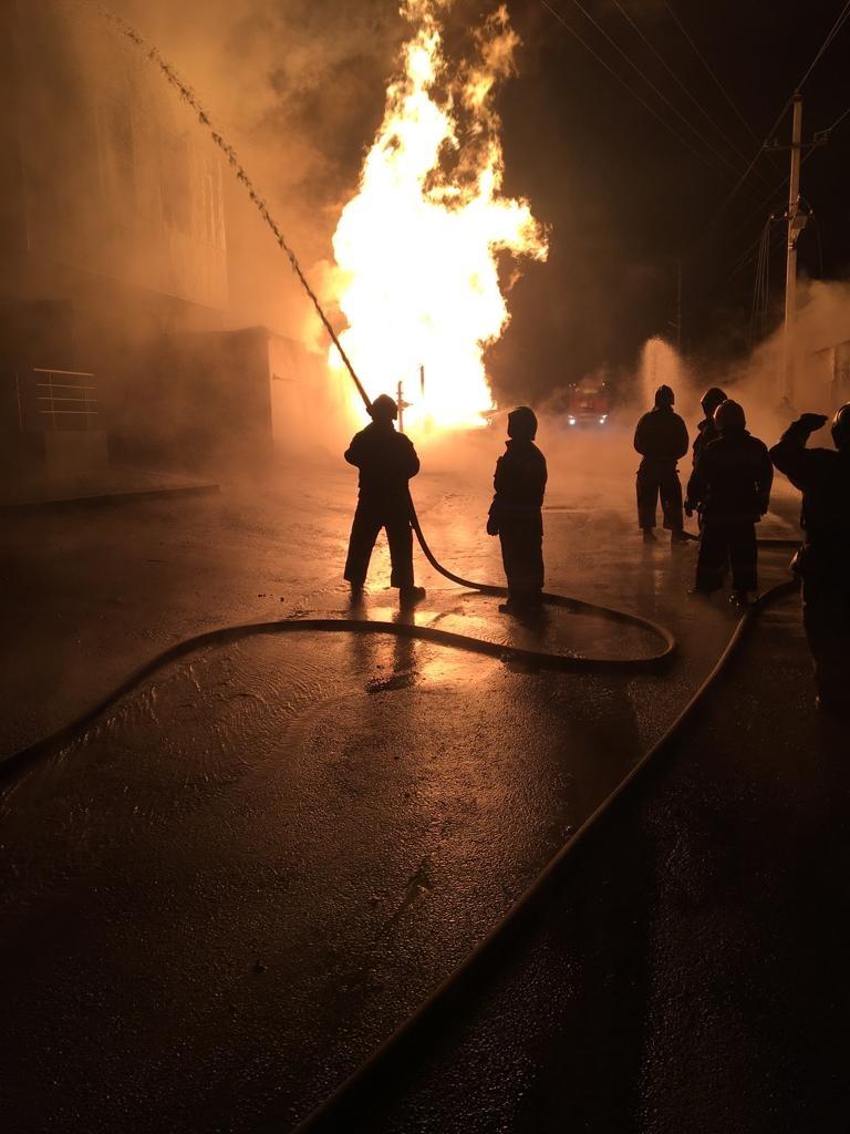 Пожар в городе Прохладный — МЧС России по Кабардино-Балкарской Республике