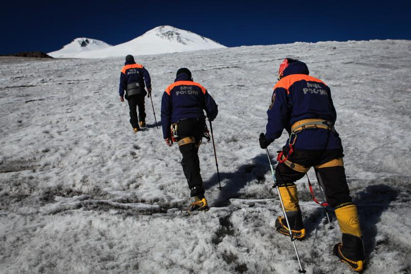 Поисково-спасательные работы на горе Эльбрус