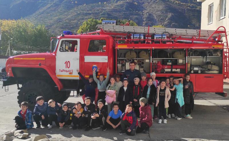 Ознакомительная экскурсия в пожарно-спасательной части